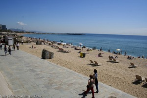 Being a beach bum in Barcelona  follow the ruby white road